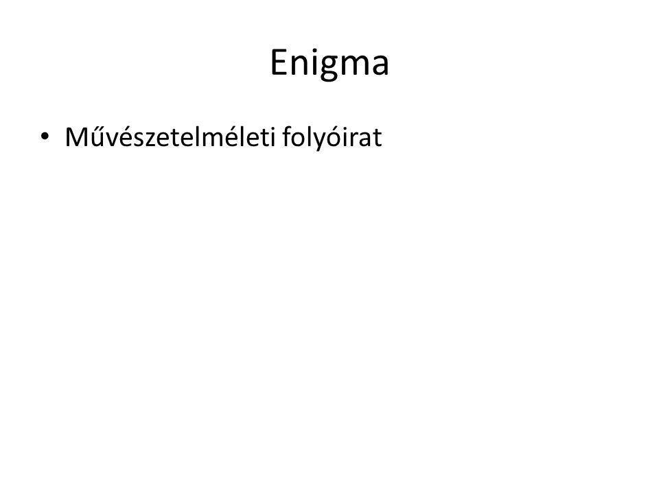 Enigma Művészetelméleti folyóirat