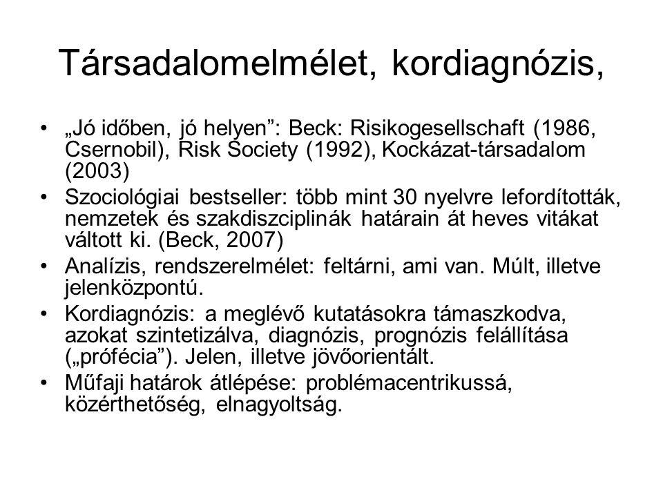Társadalomelmélet, kordiagnózis,