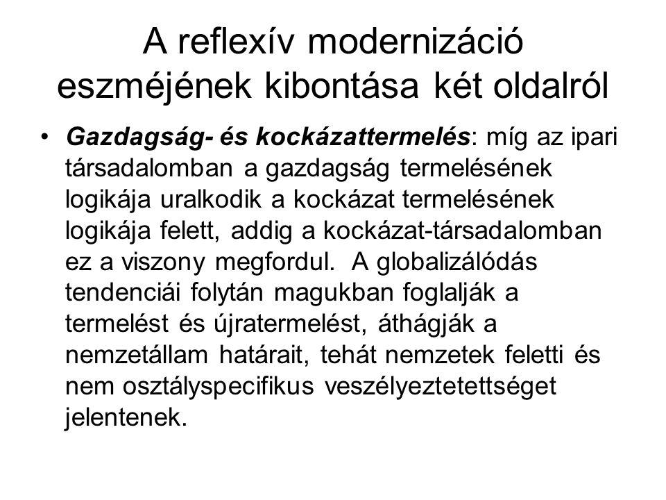 A reflexív modernizáció eszméjének kibontása két oldalról