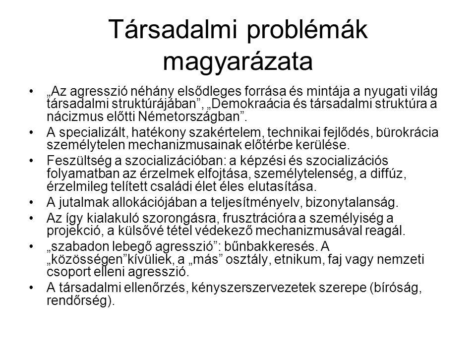 Társadalmi problémák magyarázata