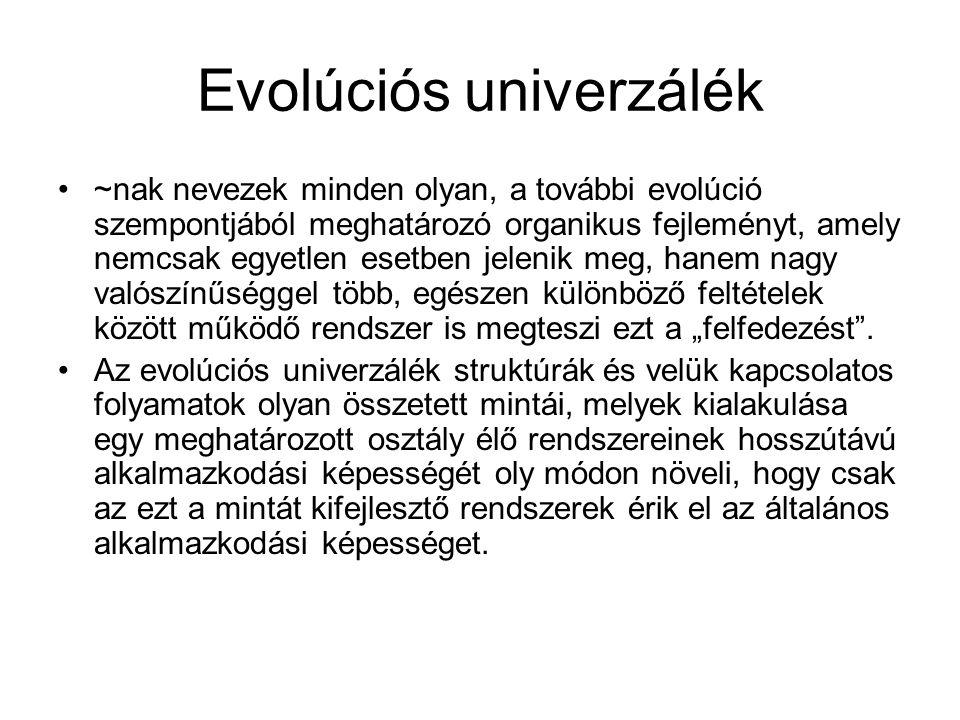 Evolúciós univerzálék