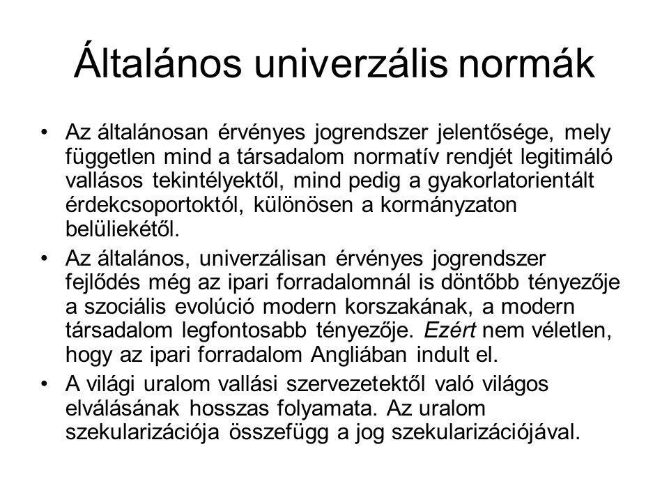 Általános univerzális normák