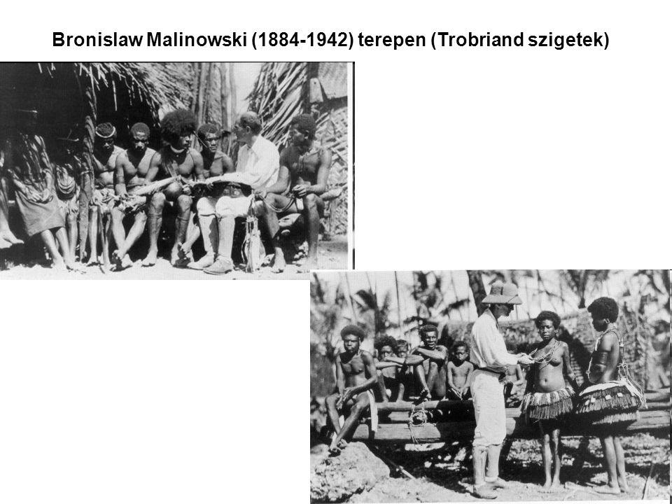 Bronislaw Malinowski (1884-1942) terepen (Trobriand szigetek)