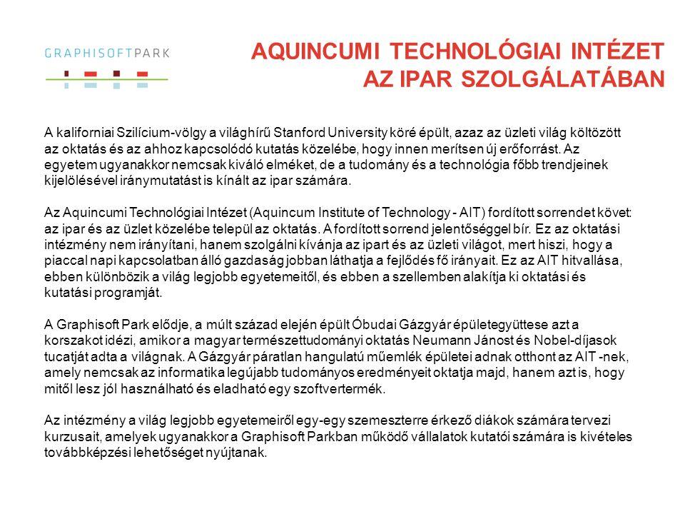AQUINCUMI TECHNOLÓGIAI INTÉZET az ipar szolgálatában