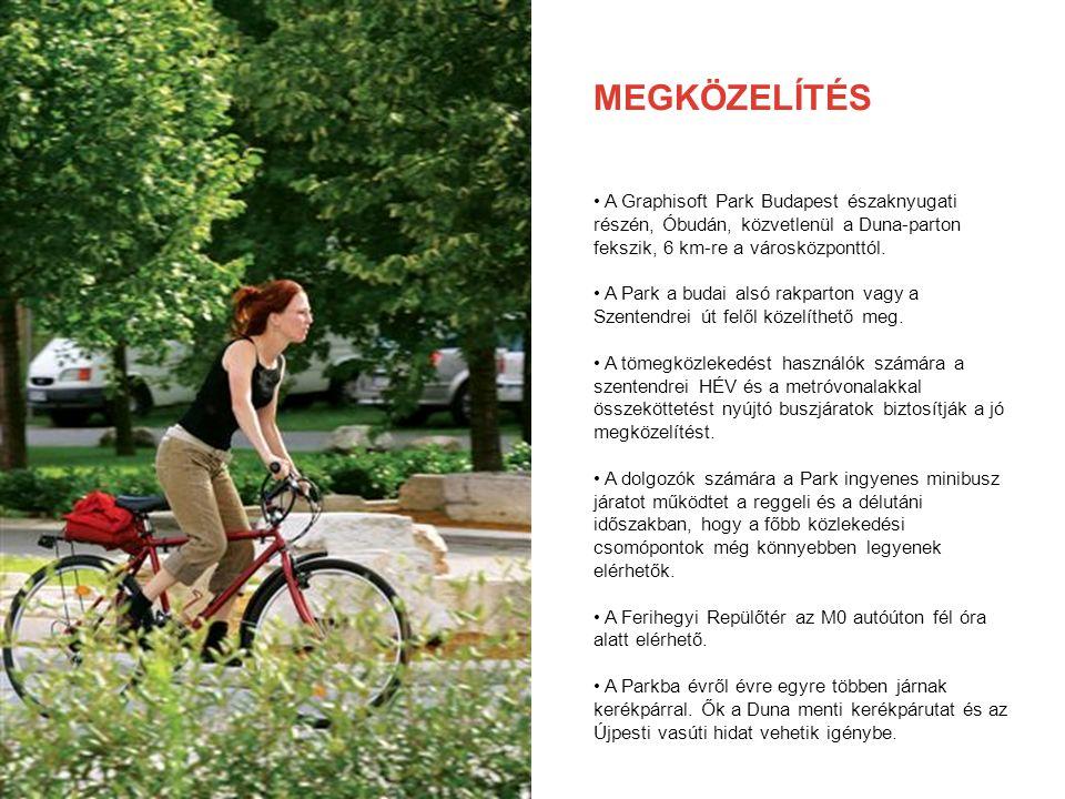 MEGKÖZELÍTÉS A Graphisoft Park Budapest északnyugati részén, Óbudán, közvetlenül a Duna-parton fekszik, 6 km-re a városközponttól.