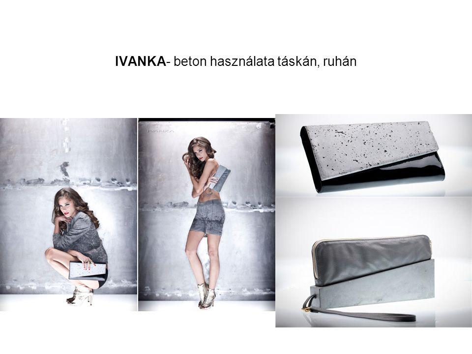 IVANKA- beton használata táskán, ruhán