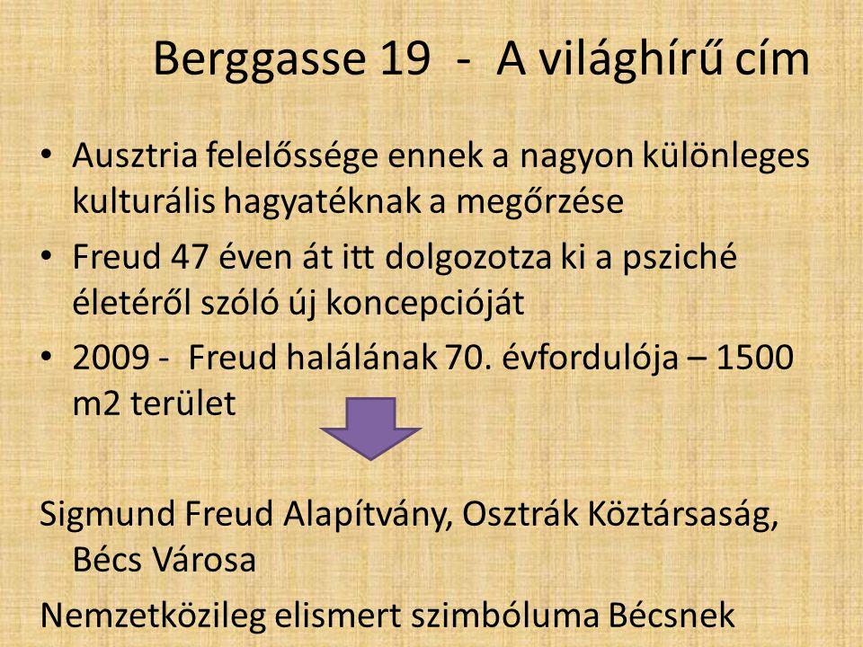 Berggasse 19 - A világhírű cím