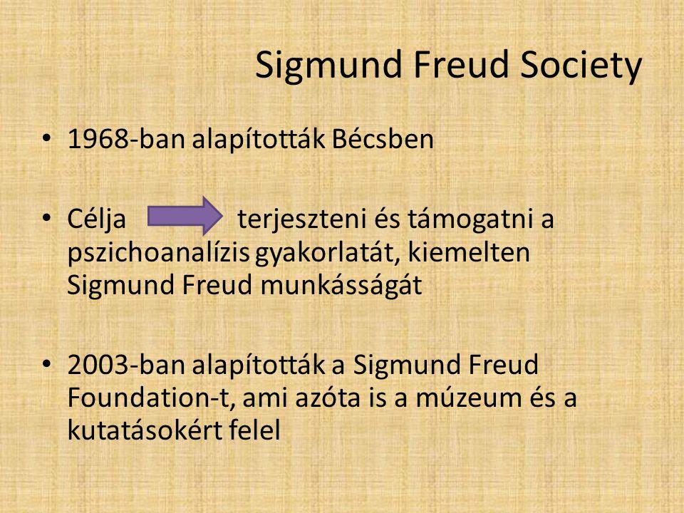 Sigmund Freud Society 1968-ban alapították Bécsben
