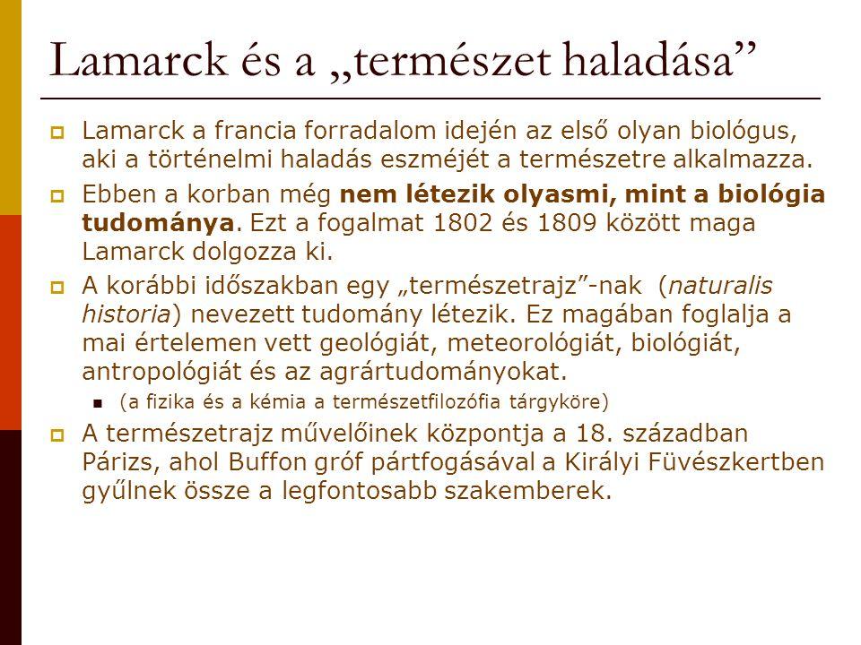 """Lamarck és a """"természet haladása"""