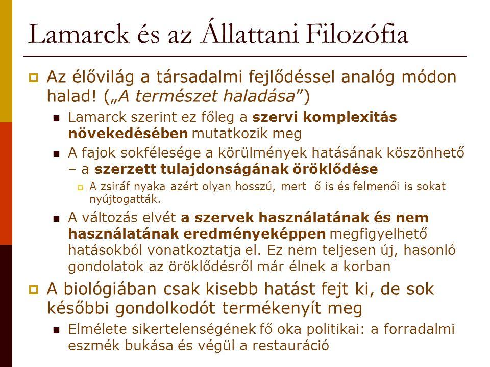 Lamarck és az Állattani Filozófia
