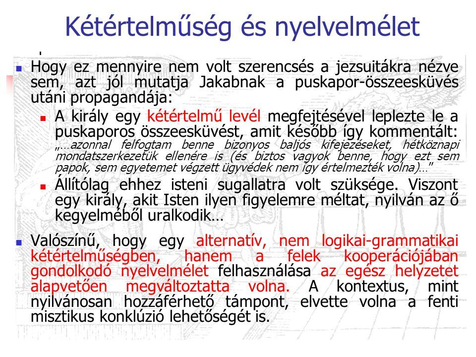 Kétértelműség és nyelvelmélet