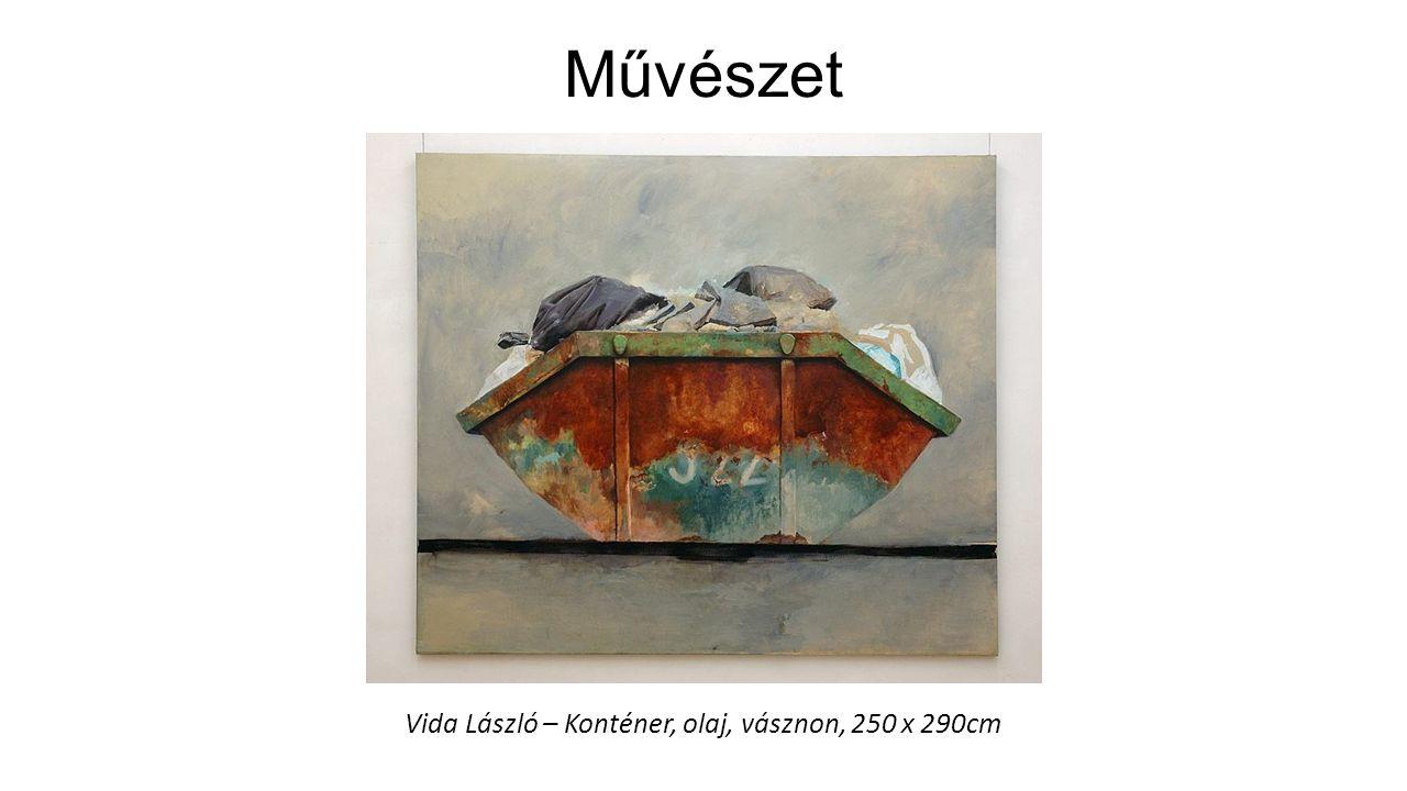 Vida László – Konténer, olaj, vásznon, 250 x 290cm