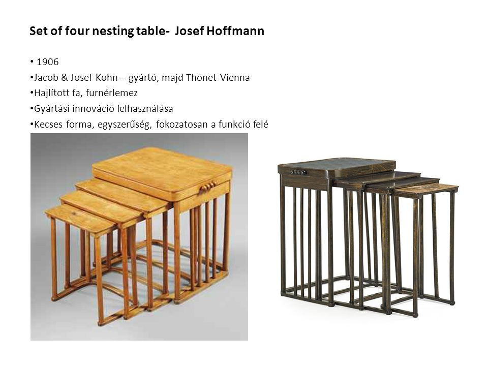Set of four nesting table- Josef Hoffmann