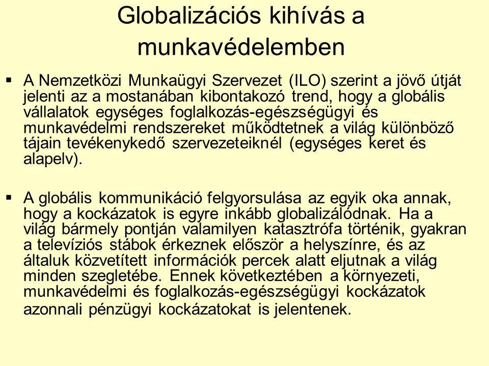 Globalizációs kihívás a munkavédelemben