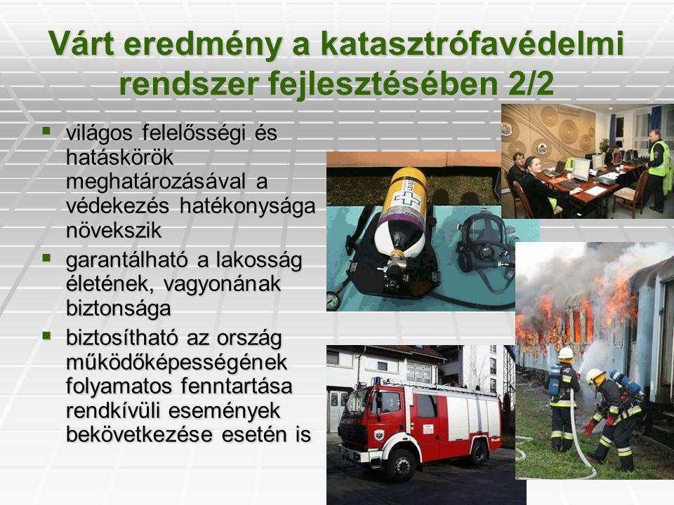 Várt eredmény a katasztrófavédelmi rendszer fejlesztésében 2/2