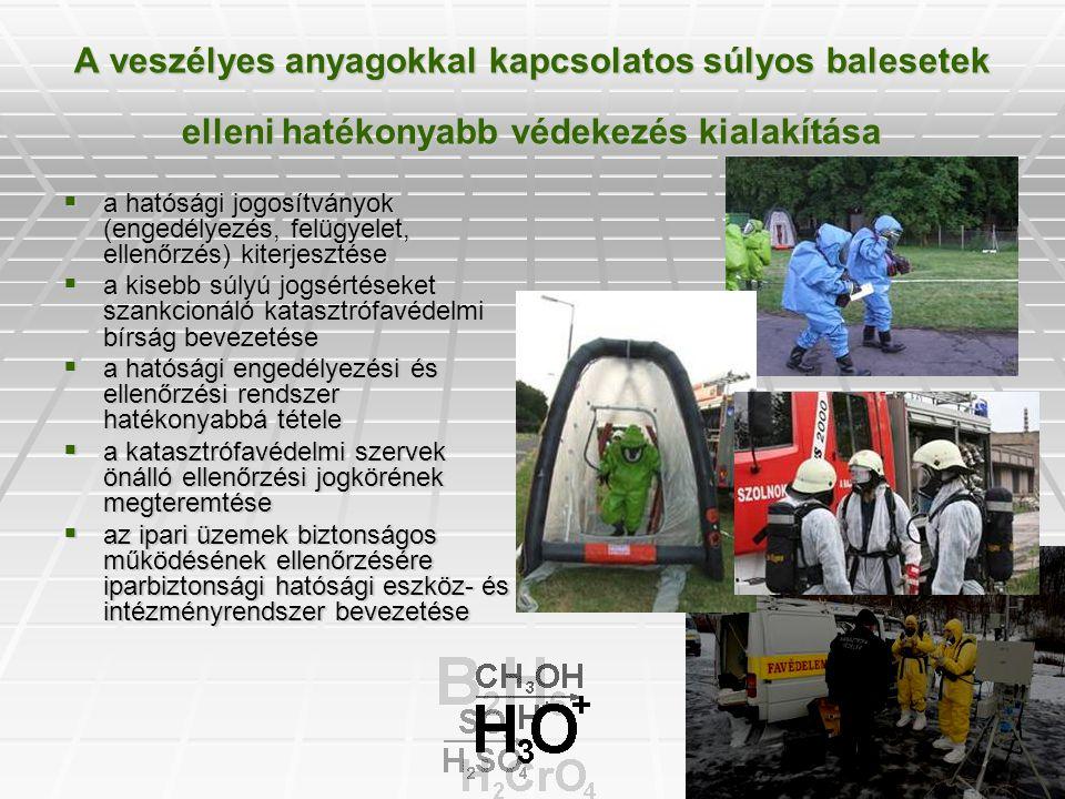 A veszélyes anyagokkal kapcsolatos súlyos balesetek elleni hatékonyabb védekezés kialakítása