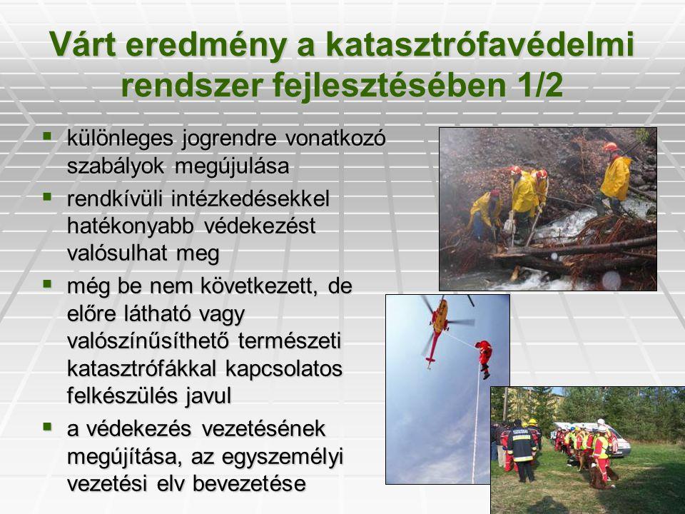 Várt eredmény a katasztrófavédelmi rendszer fejlesztésében 1/2