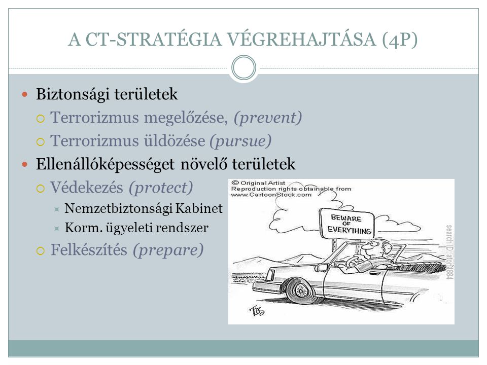 A CT-STRATÉGIA VÉGREHAJTÁSA (4P)