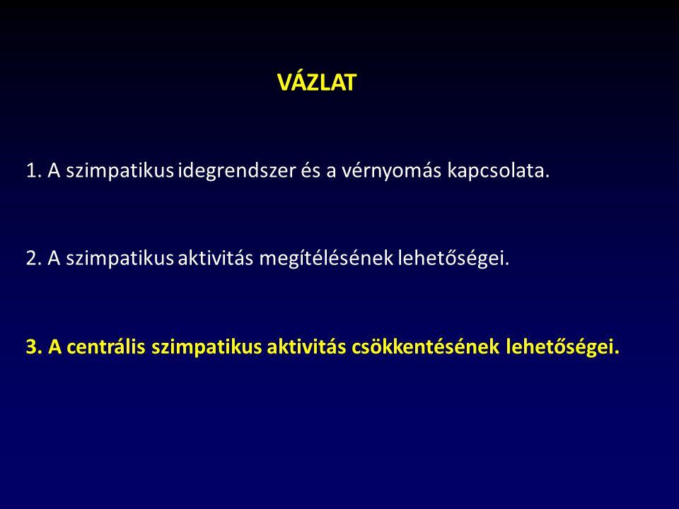 VÁZLAT 1. A szimpatikus idegrendszer és a vérnyomás kapcsolata.
