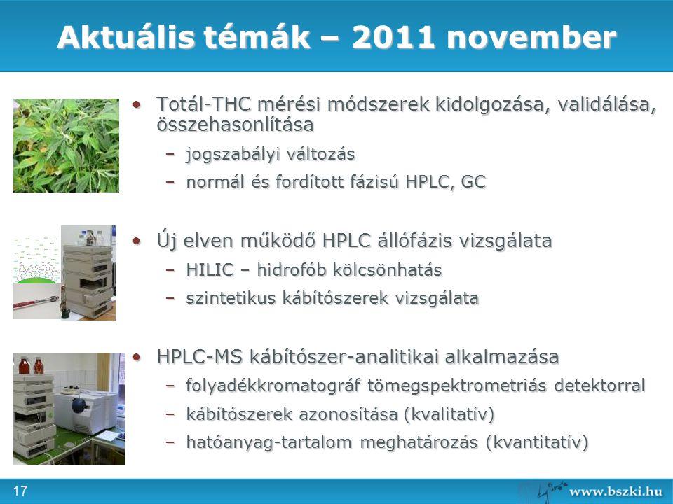 Aktuális témák – 2011 november