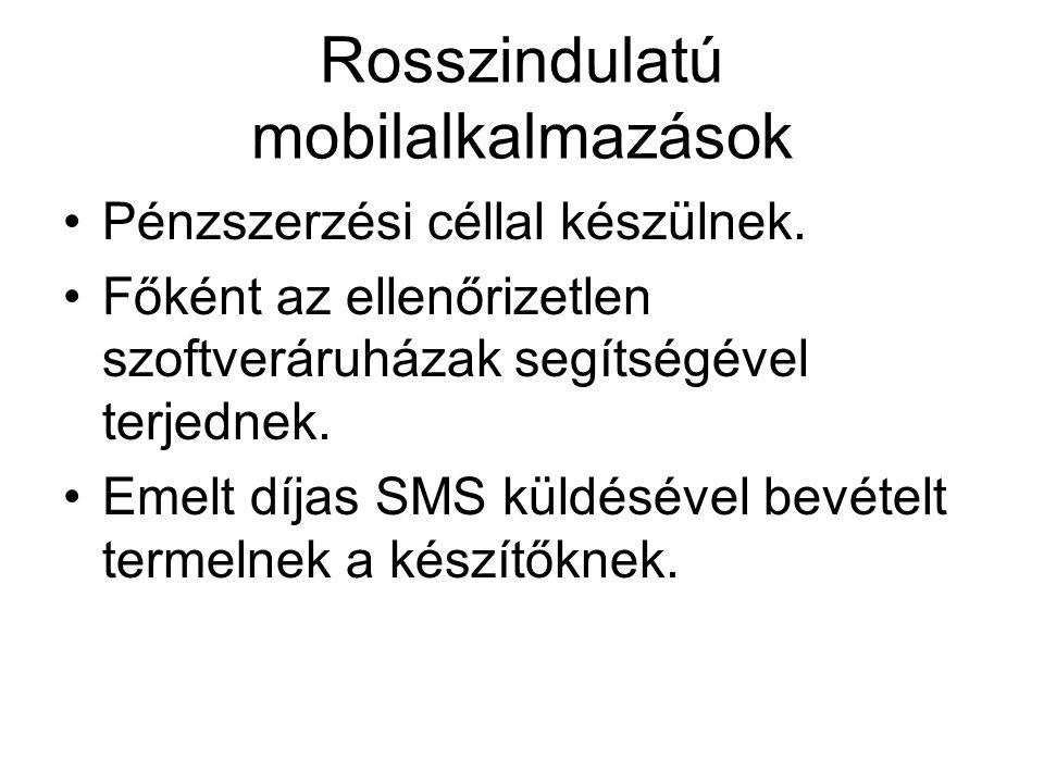 Rosszindulatú mobilalkalmazások