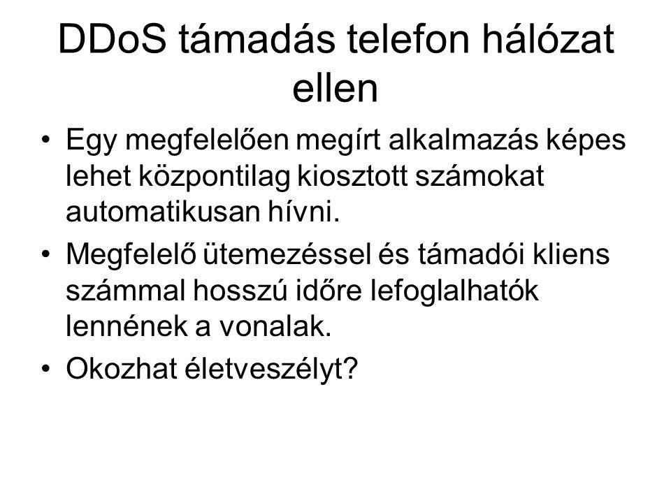 DDoS támadás telefon hálózat ellen