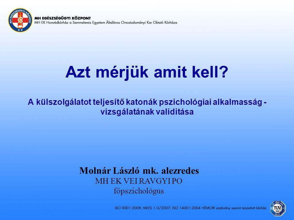Molnár László mk. alezredes