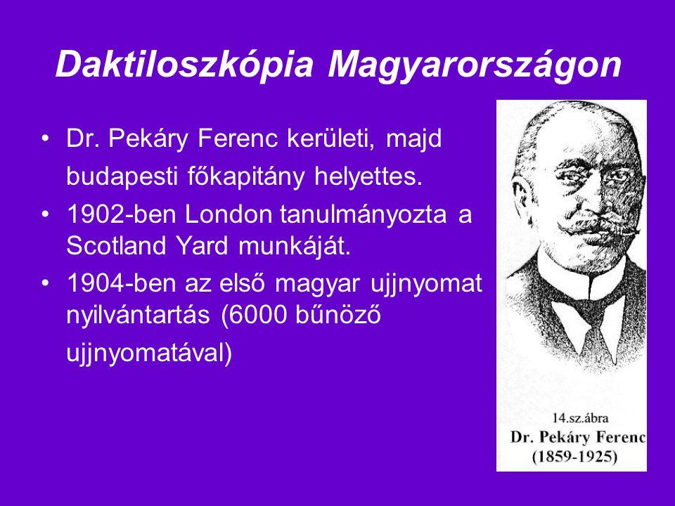 Daktiloszkópia Magyarországon