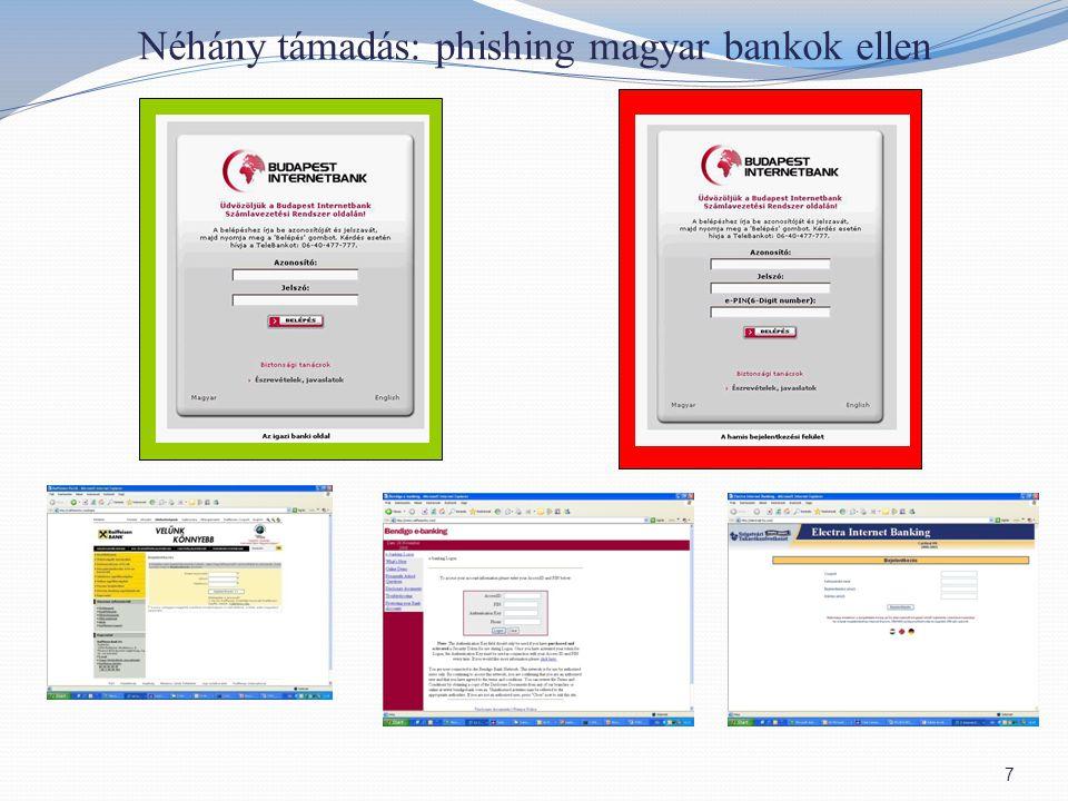 Néhány támadás: phishing magyar bankok ellen