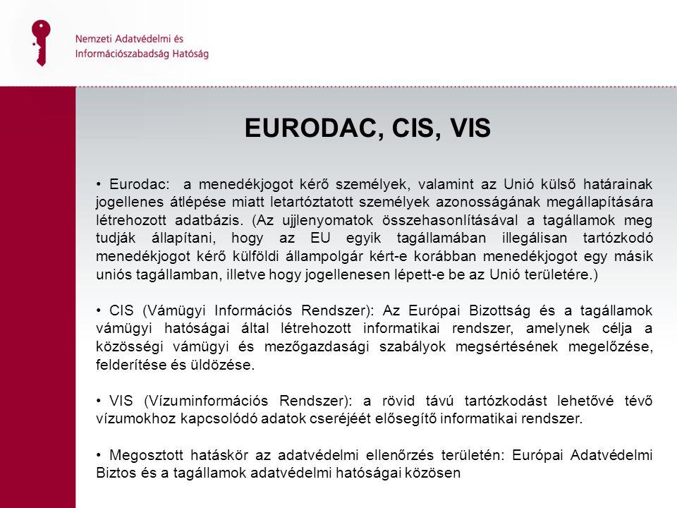 EURODAC, CIS, VIS