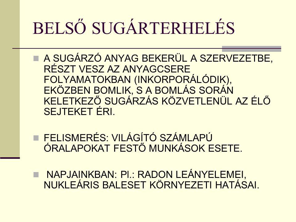 BELSŐ SUGÁRTERHELÉS