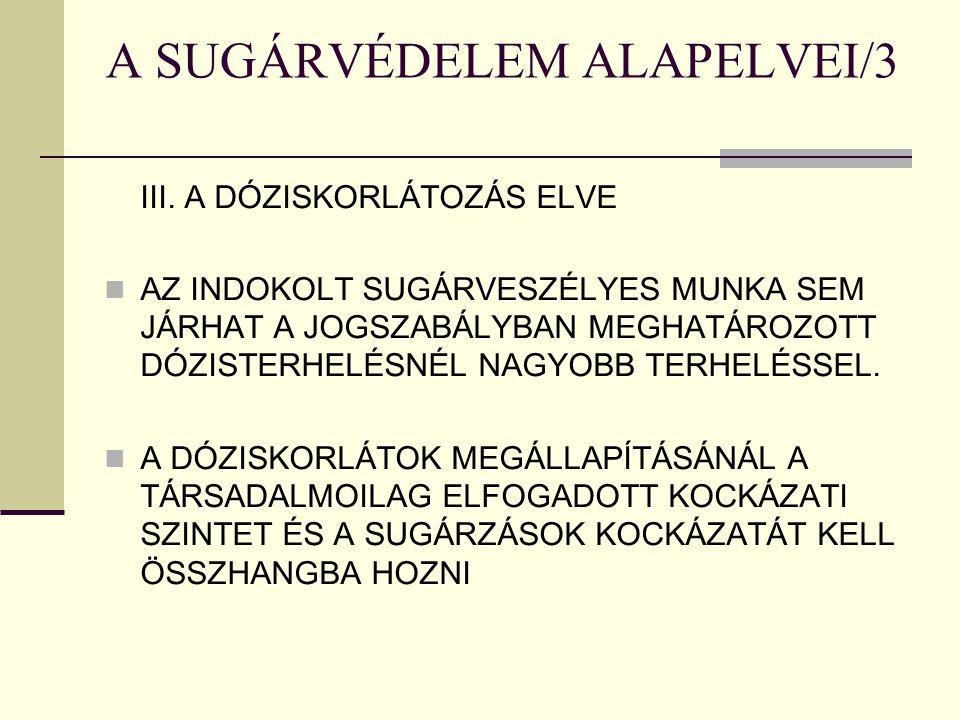 A SUGÁRVÉDELEM ALAPELVEI/3