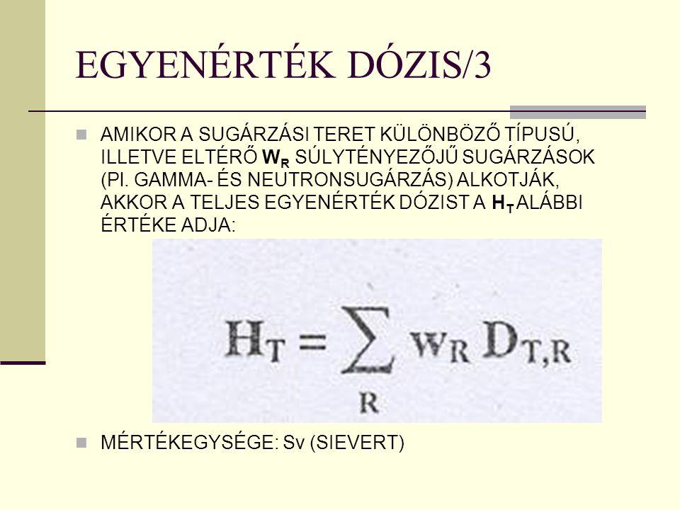 EGYENÉRTÉK DÓZIS/3