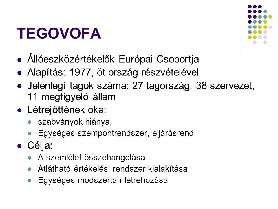 TEGOVOFA Állóeszközértékelők Európai Csoportja