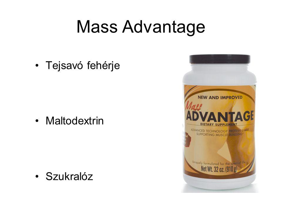Mass Advantage Tejsavó fehérje Maltodextrin Szukralóz