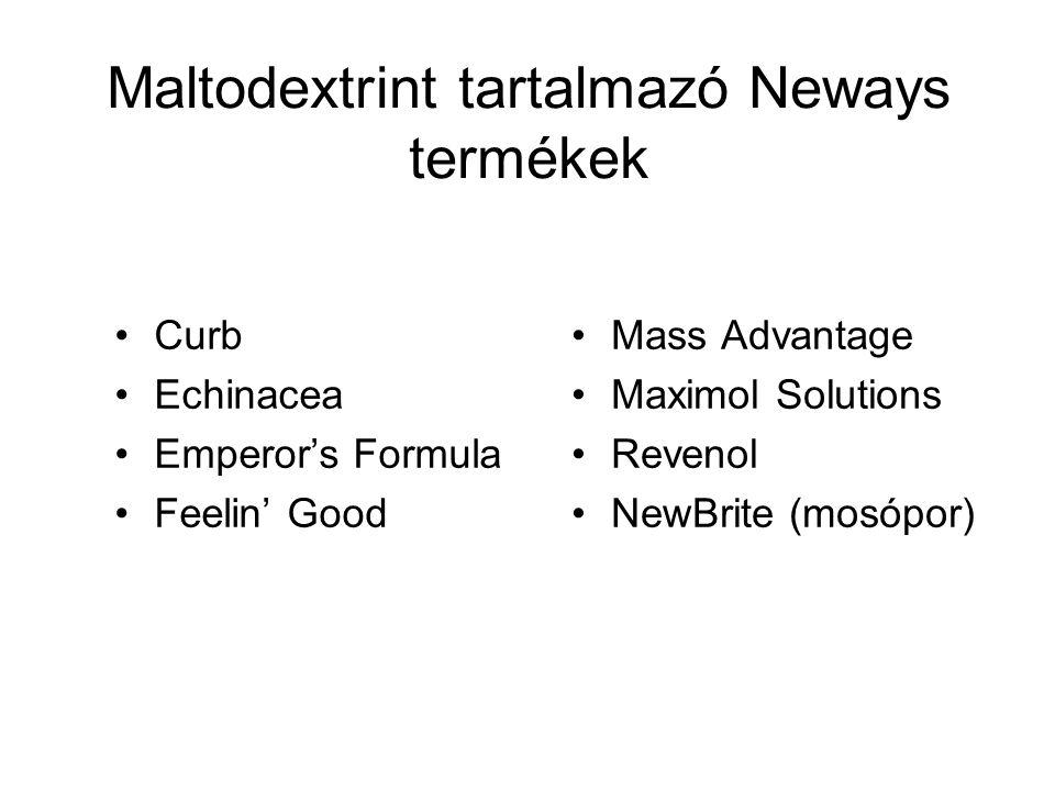 Maltodextrint tartalmazó Neways termékek