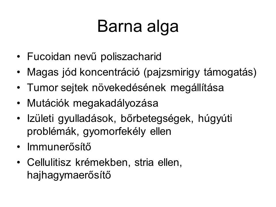 Barna alga Fucoidan nevű poliszacharid