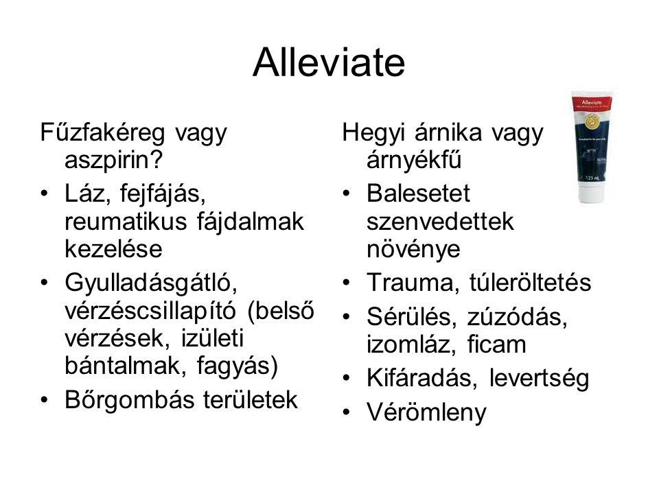 Alleviate Fűzfakéreg vagy aszpirin