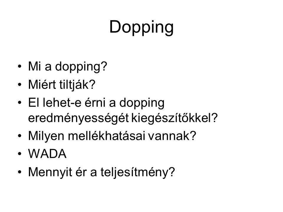 Dopping Mi a dopping Miért tiltják