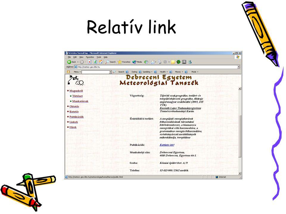 Relatív link
