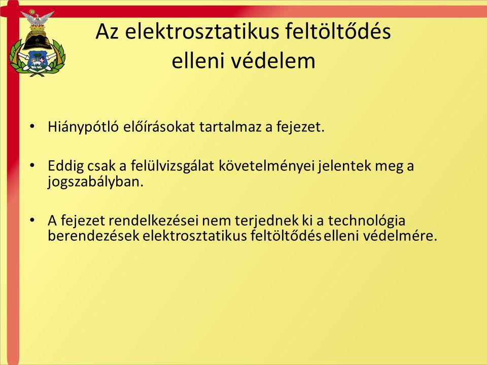 Az elektrosztatikus feltöltődés elleni védelem