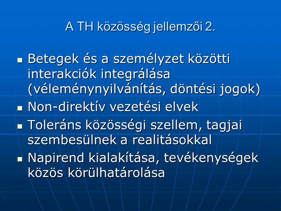 A TH közösség jellemzői 2.
