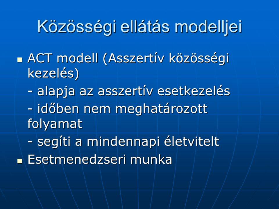 Közösségi ellátás modelljei