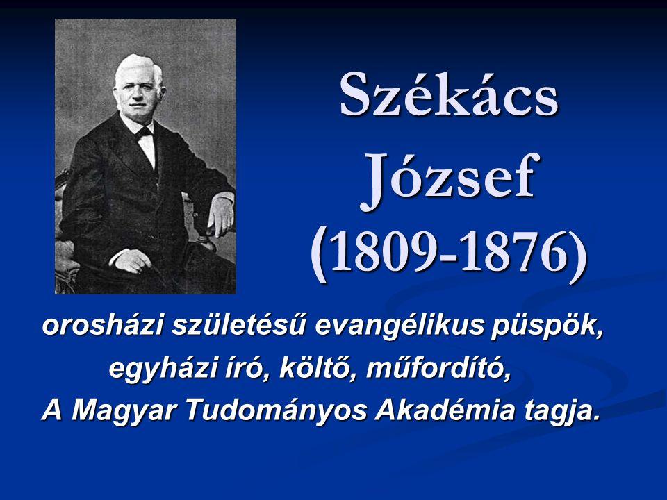 Székács József (1809-1876) orosházi születésű evangélikus püspök,