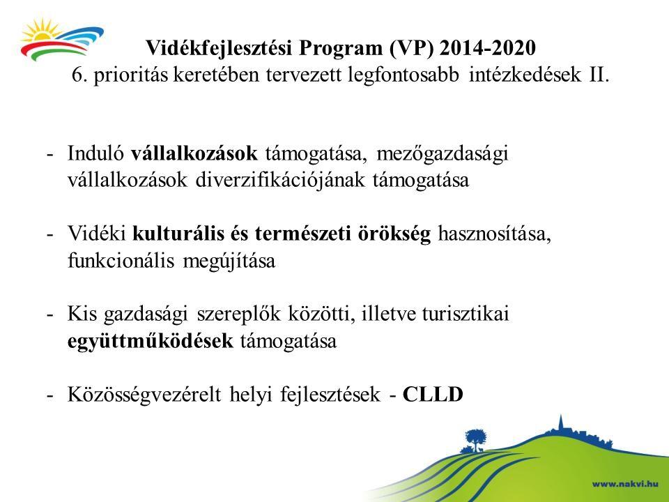 Vidékfejlesztési Program (VP) 2014-2020 6