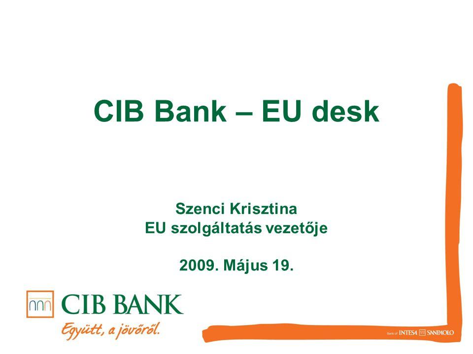 Szenci Krisztina EU szolgáltatás vezetője