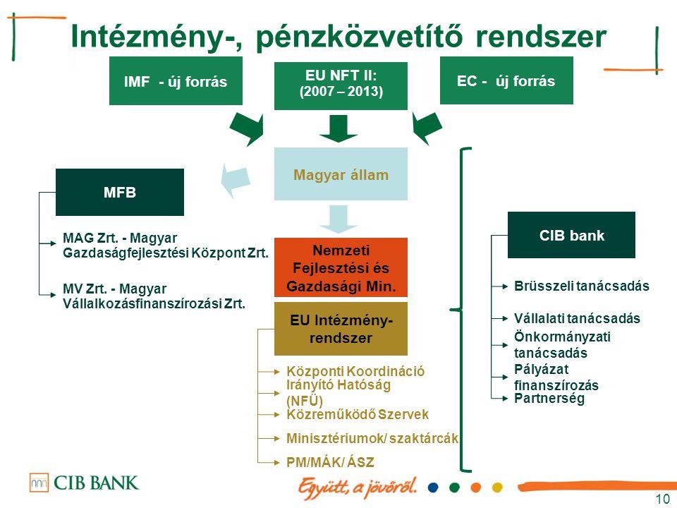 Intézmény-, pénzközvetítő rendszer