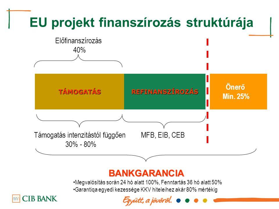 EU projekt finanszírozás struktúrája