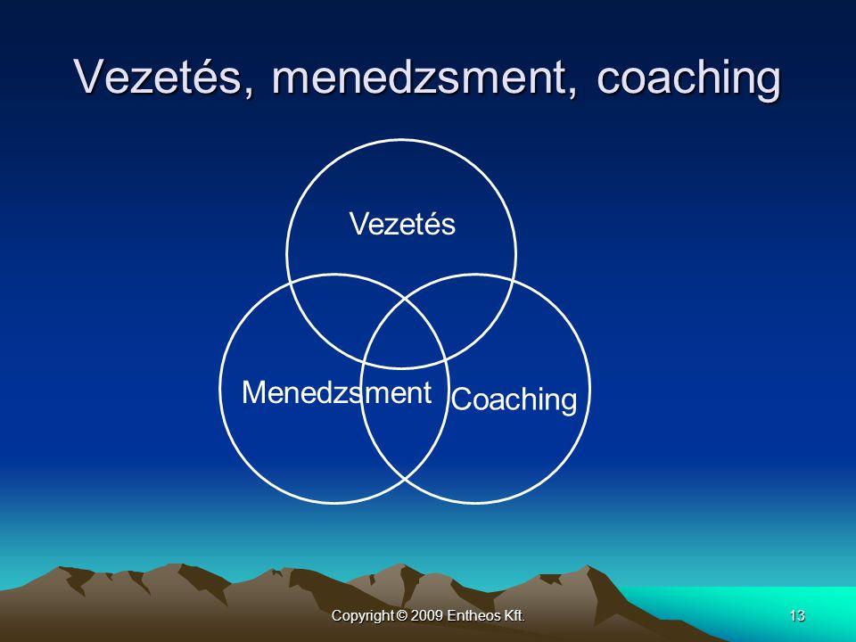 Vezetés, menedzsment, coaching