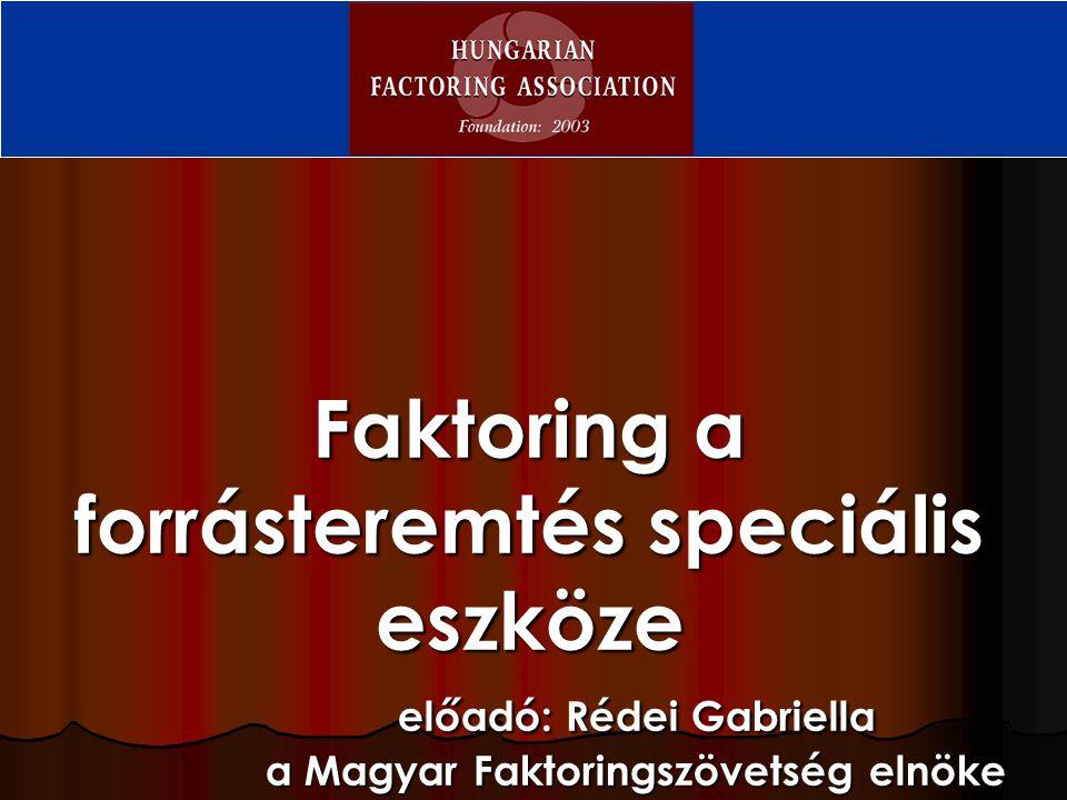 Faktoring a forrásteremtés speciális eszköze. előadó: Rédei Gabriella
